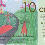 Yamina (ALAE Ecole Anatole France Narbonne -2014) illustre le bon d'échange de 10 CERS -verso