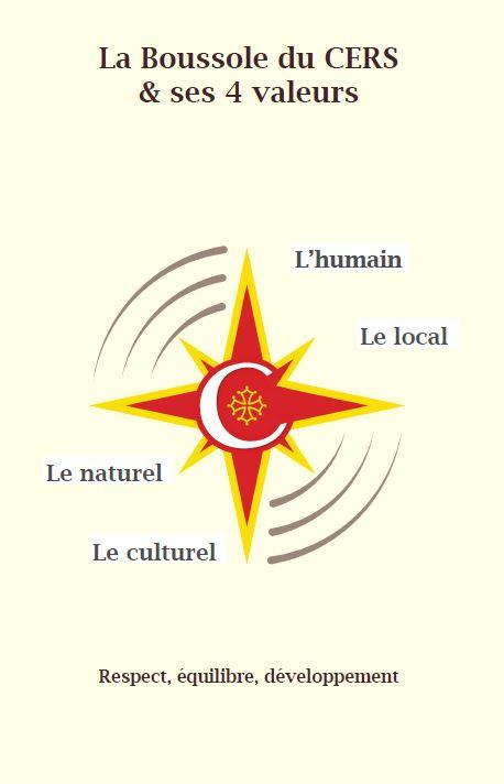 Boussole du CERS= respect, équilibre et développement de l'humain, du local, du naturel, du culturel